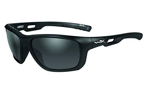 Wiley X Aspect Schutzbrille/Sonnenbrille Zertifiziert Nach En.166s (eu-Norm), matt schwarz, S-M