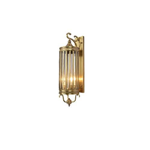 Buitenwandlamp Copper Porch Light met E27 LED-lampen, buitenverlichting voor een garage, jaargang buitenwandlamp in de boerderij