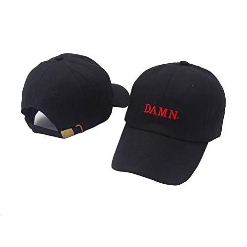 DGFB Ne'W Kendrick Lamar Vino Tinto Bordado Maldito Sombrero Dad.Desestructurado Papá Hueso Sombrero Mujer Hombre Rapero Gorra De Béisbol