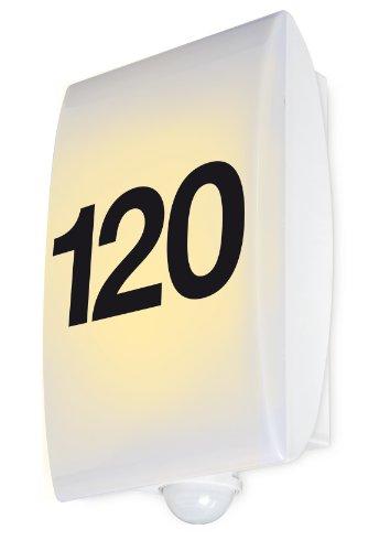 Numéro de maison à LED avec détecteur de mouvements GEV-Eclairage extérieur