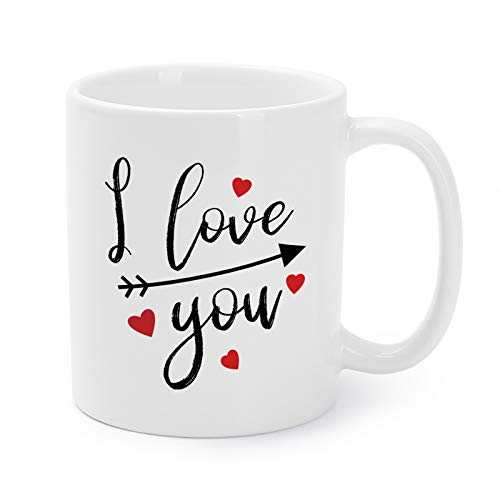 Mugaholics Father's Day Present Mugs Funny I Love You Ceramic Coffee/Tea Cups for Men/Women Couple Gag New Year/Birthday/Christmas/Holiday Presents for Boyfriend/Girlfriend/Husband/Wife - 11 Oz - CP-3