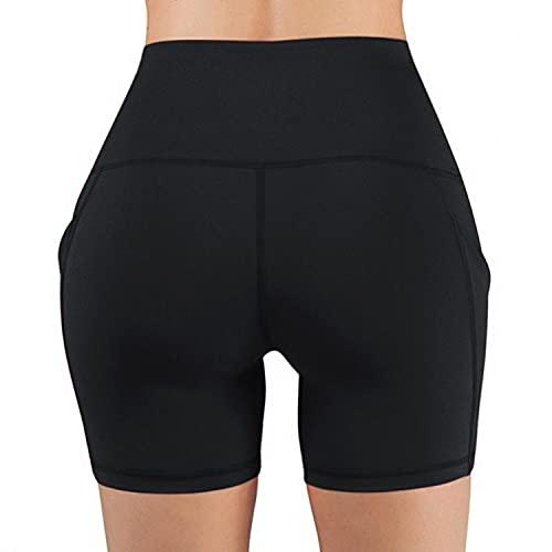 Womens Fashion Biker Shorts High Waisted Workout Shorts Tummy Control Running Yoga Short Pants WO2401 Dark Gray