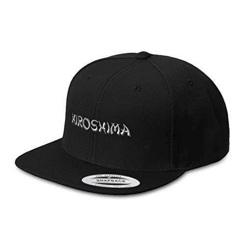 Speedy Pros Snapback Hats for Men & Women Hiroshima Japan Embroidery Acrylic Flat Bill Baseball Cap Black Design Only