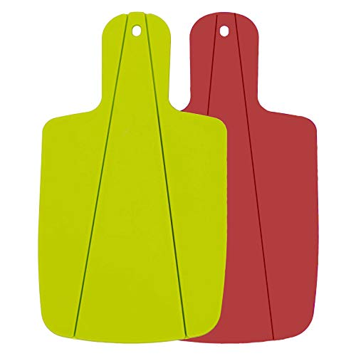 Mirrwin Planche à Découper Pliable Planches à Découper Pliables en Polypropylène de Qualité Alimentaire Convient pour la Cuisine Le Pique-Nique la Coupe de Fruits de Légumes et de Viande 2 Pièces