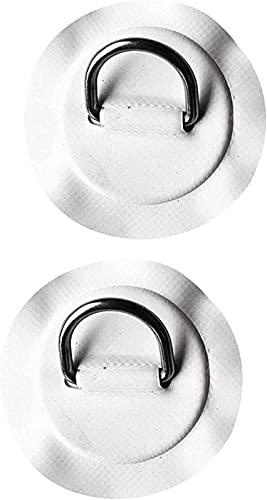 aipipl WatWater Sports accessoriesLigero y Duradero 2 Piezas D Patch Ring Soporte de Cuerda de Seguridad Acero Inoxidable para Kayak y Bote Inflable Conservante