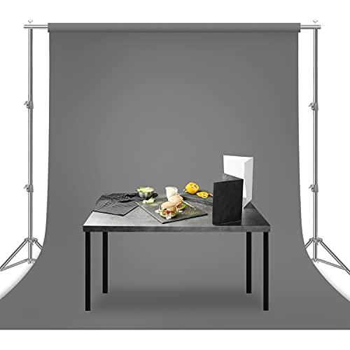Julius Studio 6 ft X 9 ft Gray Chromakey Fabric Backdrop Background Screen, Photo Video Studio, JSAG105