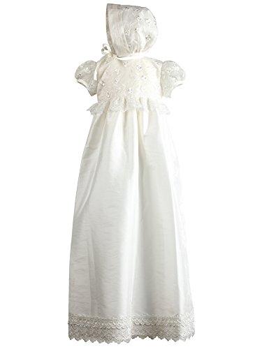 Heritage Christening and Special Occassion wear Nessa Robe de baptême, Ecru (Antique White 1), 6-12 Months Bébé Fille