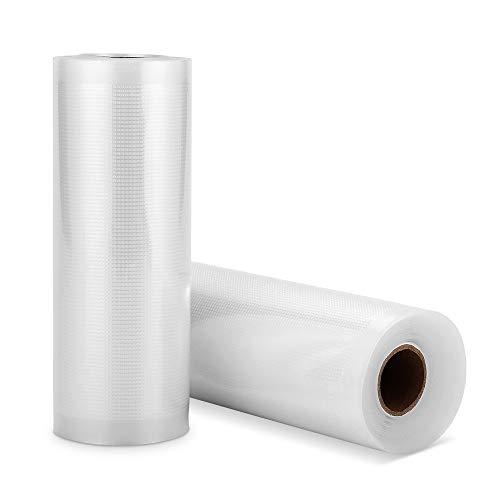 SAMEBOO Vakuumbeutel für Lebensmittel,15 * 500cm 2 Rollen für alle Balken Vakuumierer, BPA-frei,sehr Stark & Reißfest Kochfest,Wiederverwendbarer Vakuumbeutel für Folienschweißgeräte geeignet