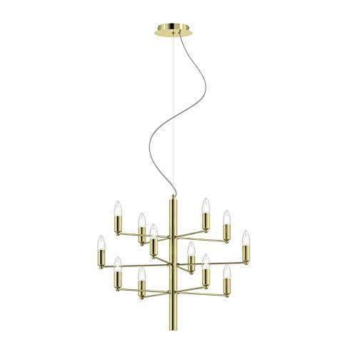 Lámpara de araña 'Tadina' (Moderno) en Dorado hecho de Met
