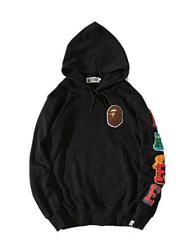 Mens Ape Bape Hoodies Sweatshirt Fashion Casual Coat Outdoor Hip-Hop Funny Tops, P14, Large