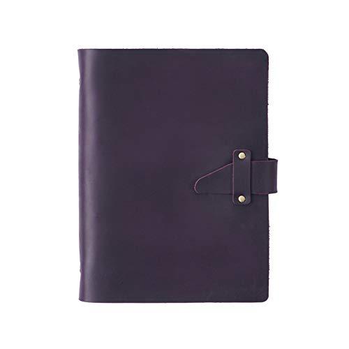 SHIFWE suministros de oficina de corte retro caballo loco cuero A5 cuaderno de papel planificador de oficina suministros escolares cuaderno de bocetos de papelería