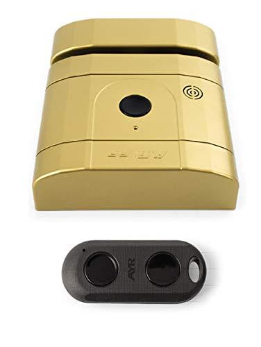 AYR Cerradura Seguridad Invisible RF Laton Mate INT-Lock, Dorada, 0
