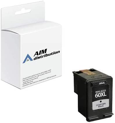 AIM Compatible Replacement for HP NO. 60XL Black Inkjet (600 Page Yield) (CC641WN) - Generic