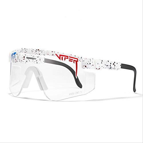 BGRFT Gafas de sol Pit Viper, doble ancho polarizado, espejo azul, lente Tr90, protección Uv400, gafas de sol deportivas para ciclismo C31