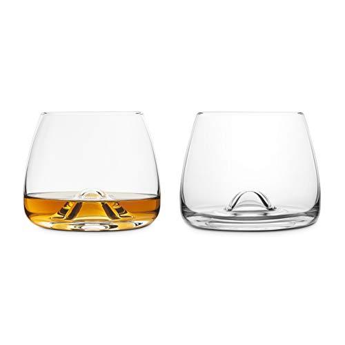 Final Touch Vasos de cristal para whisky 100% sin plomo con