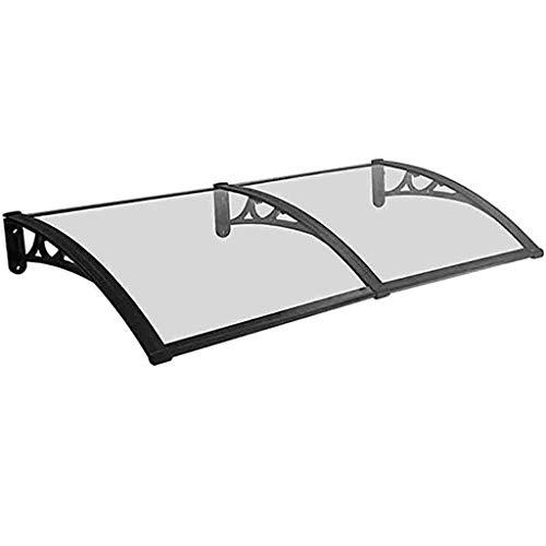Lw Canopies polycarbonaat deur Canopy PC luifel regenbescherming venster luifel regenhuis afdekking voor voordeur 80 * 160cm