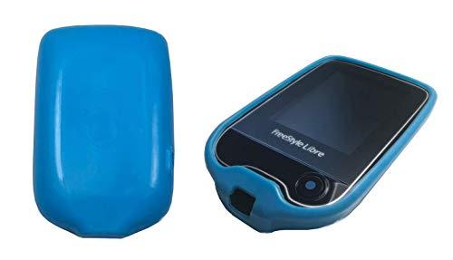 Schutzhülle/Cover für das Freestyle Libre Blutzucker Messgerät, Anti-Rutsch Cover, 100% passgenau in Blau