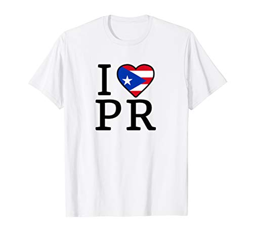 I Love Puerto Rico Boricua Flag Puerto Rican Pride I Love PR T-Shirt