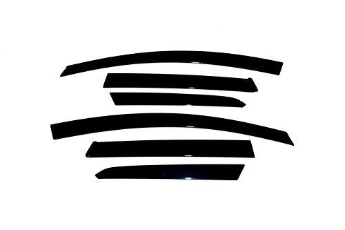 Auto Ventshade 896005 Low Profile Dark Smoke Ventvisor Side Window Deflector, 6-Piece Set for 2008-2011 Subaru Impreza