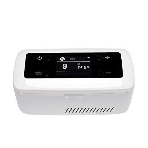 WEI-LUONG Mini Nevera Insulin refrigerador Accesorios para automóviles Travel Portátil Medicina de Almacenamiento Cooler Smart Mute LCD Pantalla de Gran Capacidad Caja de píldora
