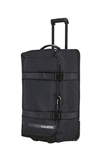 travelite Trolley Reisetasche Größe L, Gepäck Serie KICK OFF: Praktische Reisetasche mit Rollen für Urlaub und Sport, 006910-04, 68 cm, 65 Liter, d'anthrazit (grau)
