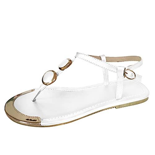 Ciabatte Donna Ortopediche Moda Leggere Comode Supporto Arco Plantare Doccia Sandali Estive Spiaggia Piscina Aperte Mare Pantofole Antiscivolo Gomma Suole Scarpe (E59-White,40)