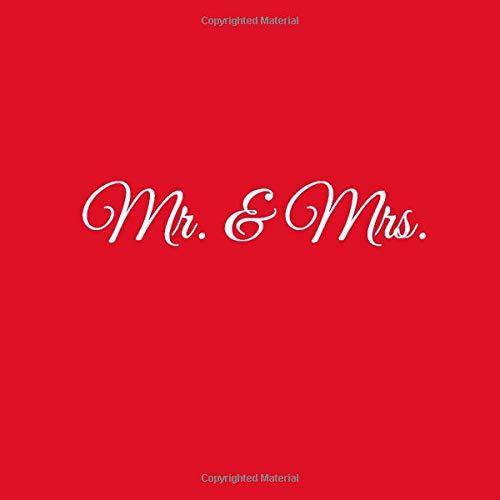 Mr. and Mrs.: Libro degli ospiti Mr and Mrs Guest book per Matrimonio decorazioni accessori idee regalo nozze fratello sorella sposi sposa donna uomo ... (Libro degli ospiti Mr and Mrs Matrimonio)
