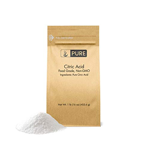 PURE Citric Acid (1 lb.), Eco-Friendly Packaging, All-Natural, Highest Quality, Pure, Food Safe, Non-GMO