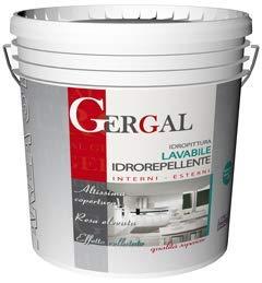 Gergal - Pintura al agua lavable transpirable, impermeable, para interiores y exteriores, barril de 4 litros, color blanco