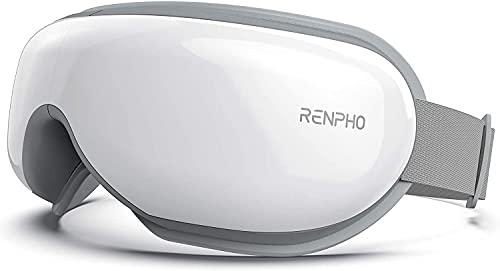 RENPHO masajeador de ojos, con calor compresión de aire presión masaje vibratorio, Música Inalámbrica, Plegable masajeador ocular para aliviar la tensión ocular Ojos secos Mejorar el sueño