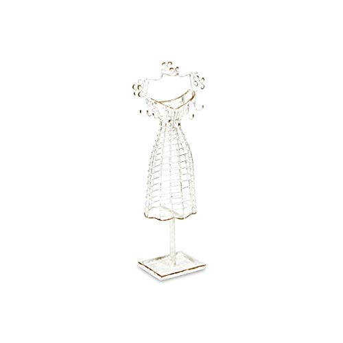 Contemporary Home Living 17.25  Silver Handcrafted Wire Dress Form Tabletop Decor