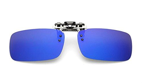 ELSA & ANNA® Polarisierte Sonnenbrillen Unisex Flip-up Klipp auf Sonnenbrille Gläsern Brille VF-GLS03 (Blau Quecksilber)