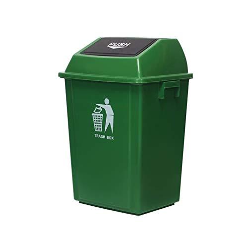 C-J-X TRASH CAN C-J-Xin Grün Abfalleimer, verdicken im Freien Mülleimer mit Deckel Hotel-Küche Abfalleimer Straße Multifunktions-Abfalleimer Hohe Kapazität (Color : Green, Size : 60L)