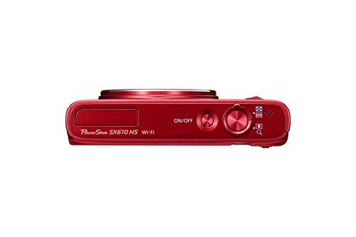"""Canon SX610 HS - Cámara compacta de 20.2 MP (Pantalla de 3"""", Zoom óptico 18x, estabilizador óptico, Video Full HD), Rojo"""