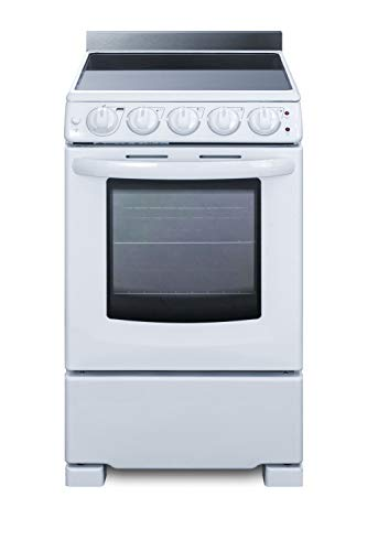Summit REX2051WRT 20 Inch Electric Freestanding Range in White