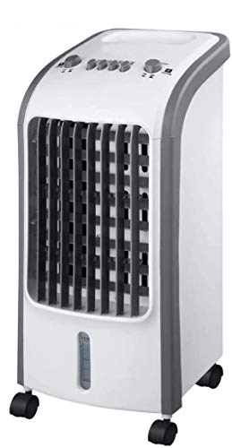 ALT90 Portable Air Cooler with 4L Water Tank - With 2 Ice Packs and Adjustable Oscillation and Speed