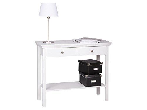 möbelando Konsole Konsolentisch Beistelltisch Ablagetisch Landhaus Tisch weiß Landsted I