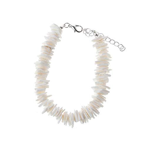 Hawaiian Natural Puka Chip Shells Choker Necklace Bracelet Anklet Beach Jewelry by Irjdksd