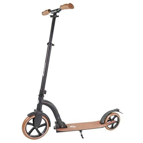 Best Sporting Vintage Scooter 230er Rolle Aluminium, Roller für Kinder und Erwachsene, Limitierte Stückzahl (Schwarz, Adults Rolle 230/180)
