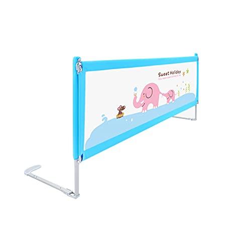 barrera cama Shuai Niño Protección contra Caídas con Hebilla De Bloqueo Adecuado para Viajes Y Uso Familiar De Colchones con Un Grosor De 3-30 Cm Azul(Size:Length 200cm)