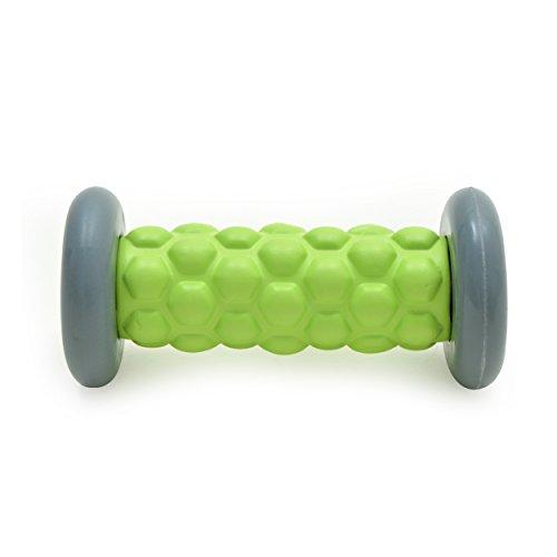 Zen Power Fuß-Roller, kleine Faszien-Rolle für Reflexzonen-Massage 16x7,5 cm in grün/grau