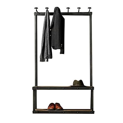 LM-Coat rack XINGLL Percheros Pie Perchero, Mobiliario Industrial, Mantén Tu Ropa, Sombrero, Bolso, Zapatos, Artículos Organizados, Ideal para Pasillo, Dormitorio, Entrada, Oficina