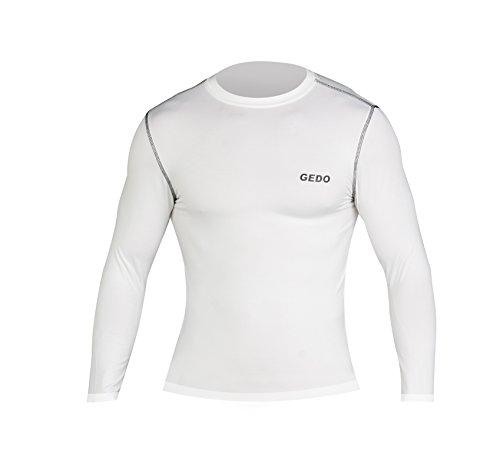 Gedo CAT003–Shirt Langarm Unisex XS weiß