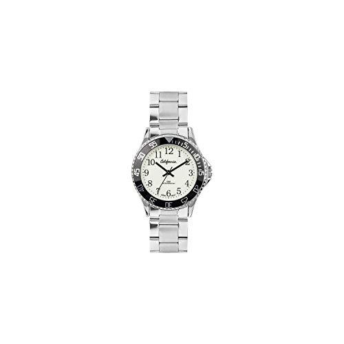 California - California Armbanduhr für Jungen mit Stahlband - für Jungen - 925 Silber