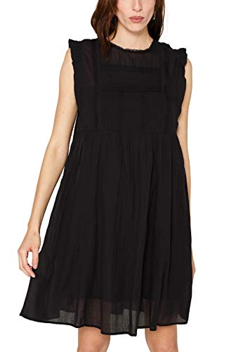 ESPRIT Damen 059EE1E009 Kleid, Schwarz (Black 001), (Herstellergröße: 40)