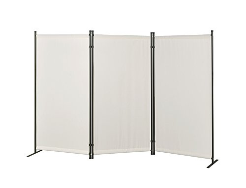 Read About Proman Products Galaxy Room Outdoor/Indoor Divider (3-Panel), 102 W x 16 D x 71 H, Bei...