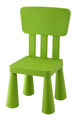 Mueblear 90051 - Sedia per bambini, in plastica, 31 x 30 x 67 cm verde