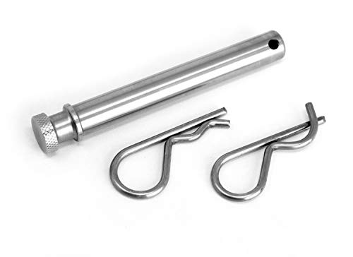 LFPartS 100% Stainless Steel Trailer Hitch Pin Keeper Grip Clip Kit (Will Fit 2