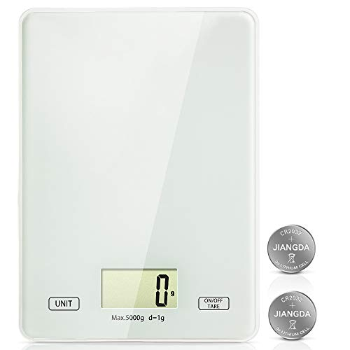 Lekesky Digital Kitchen Scales Food Scales with Tempered Glass Platform...