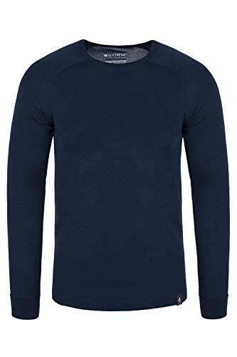 Mountain Warehouse Merino Langarm Baselayer-Thermotop für Herren - Leichtes T-Shirt, warm, antibakteriell, schnelltrocknend - Ideal bei kaltem Wetter Winter Baselayer Marineblau XL